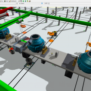 Steel works simulation