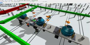 Steel works simulation